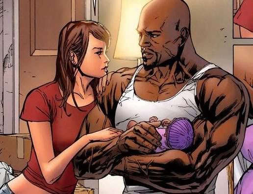 Luke Cage e Jéssica Jones