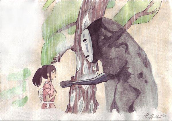 A Viagem de Chihiro – Desenho by Axellie