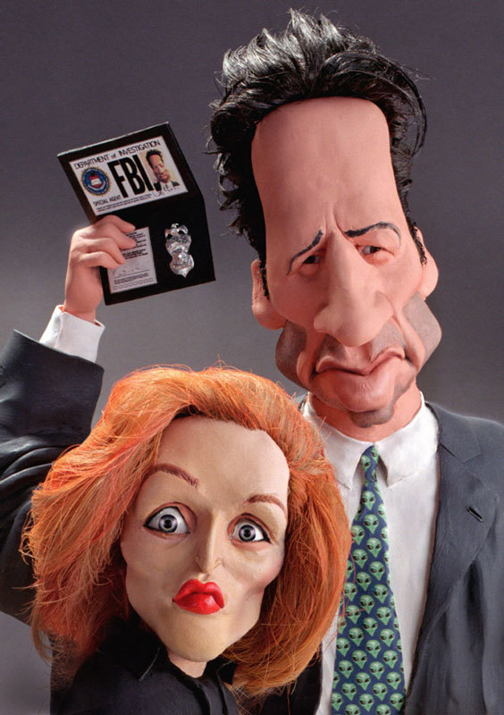 Caricaturas-MulderScully