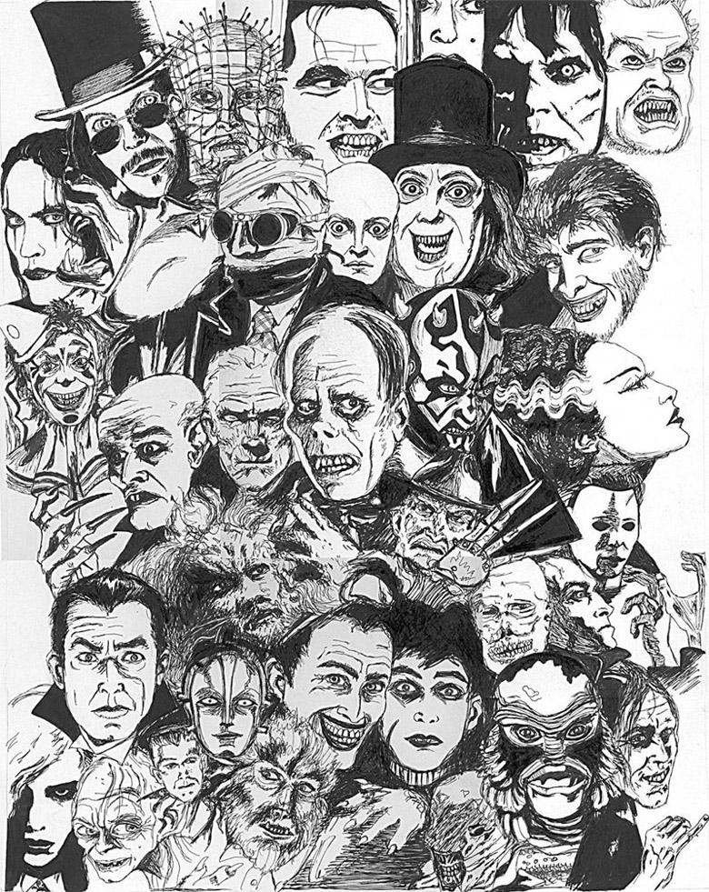 Filmes de Terror – Desenho by Horror-Forever