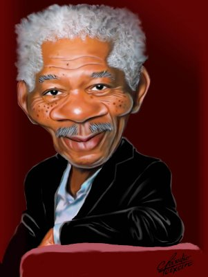 caricatura-Morgan-Freeman