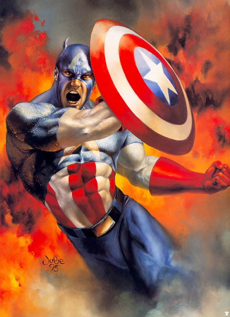 Captain-America-by-julie-bell
