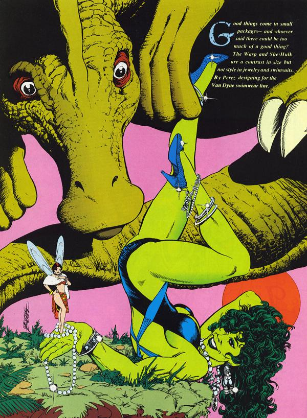 Mulher-Hulk e Vespa, eita beleza esverdeada.