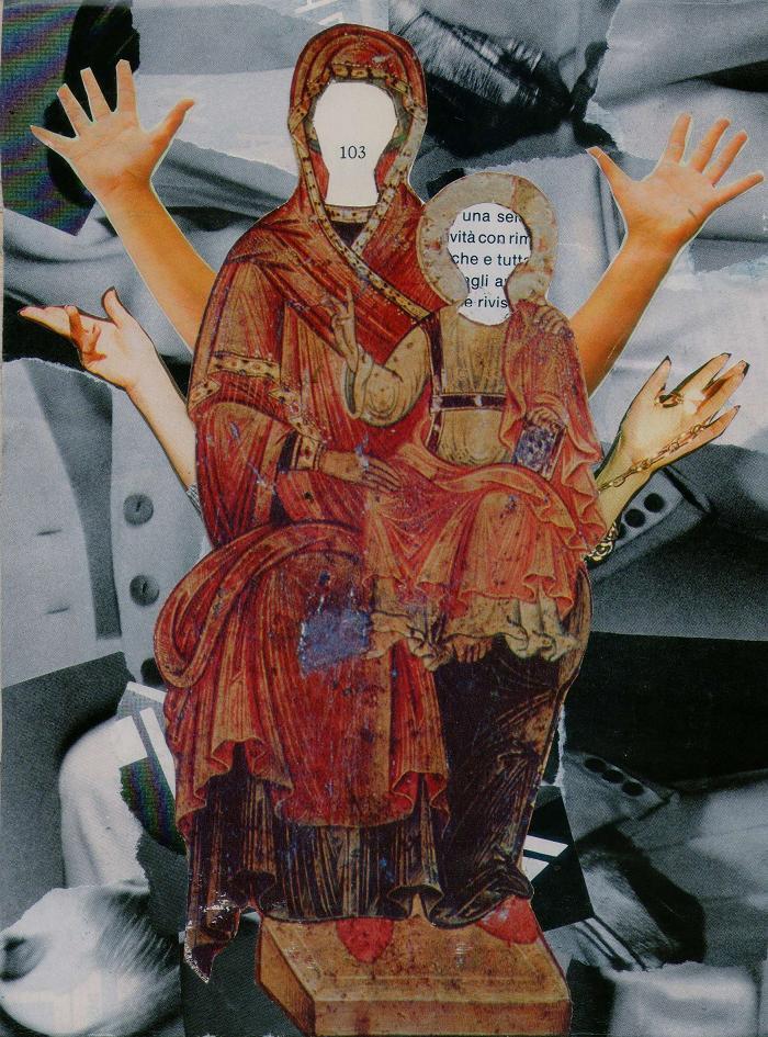 Série Jesus - Cultura. Colagem sobre MDF, tamanho A5