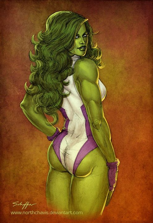 Mulher-Hulk by northchavis