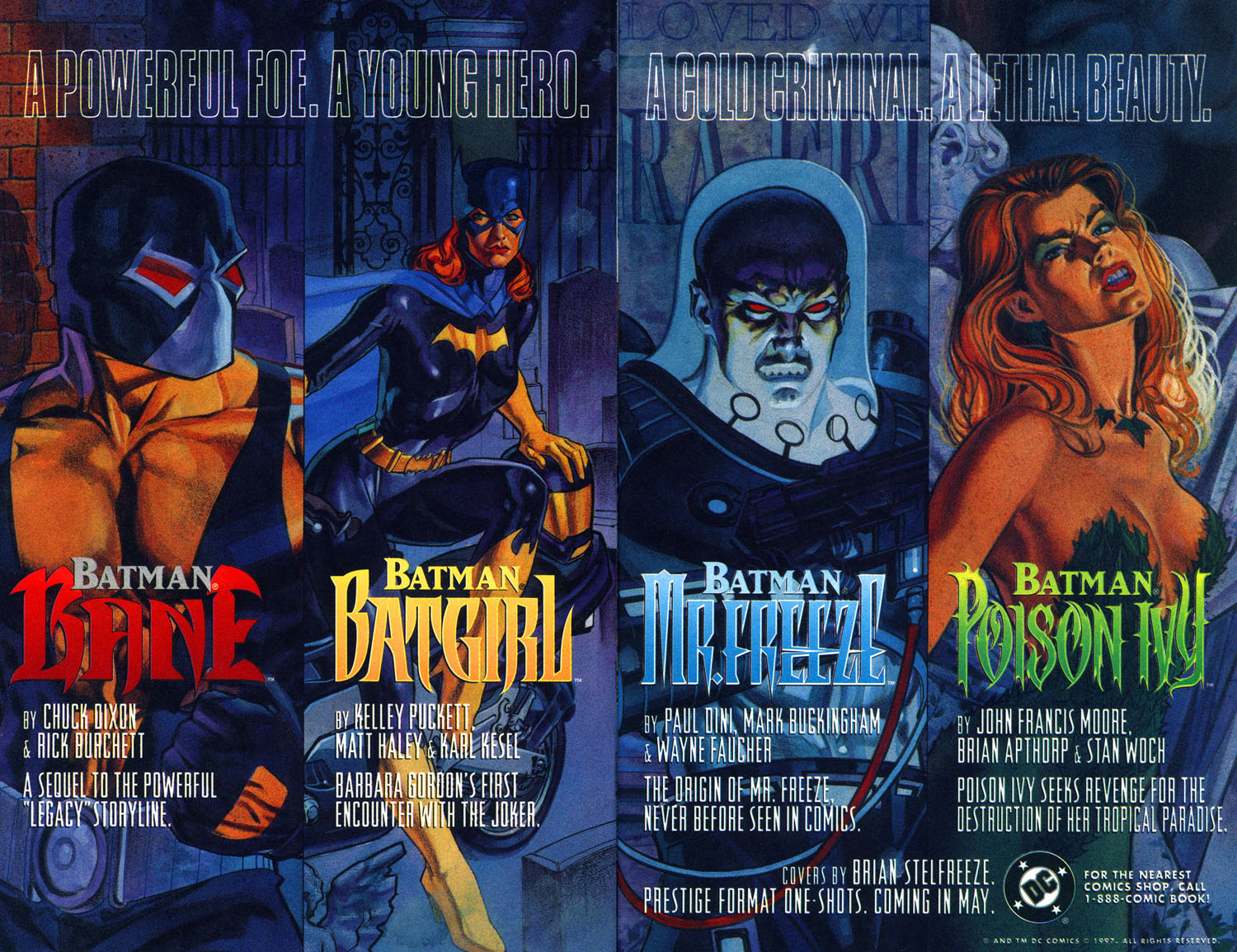 séries batman 1997 bane hera venenosa poison ivy mr. freeze sr. frio batgirl