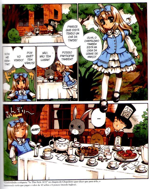 Alice no País das Maravilhas em mangá página 3