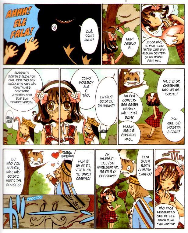 Alice no País das Maravilhas em mangá página 4