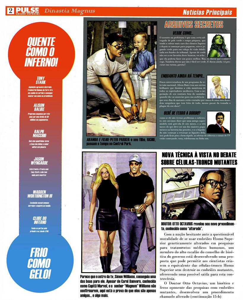 Marvel Deluxe Dinastia M página 1