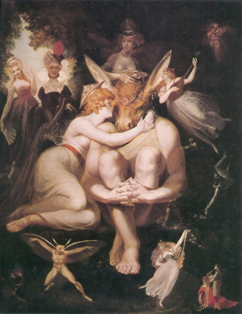 Henry Fuseli Titania Awakes, Surrounded by Attendant Fairies - 1794