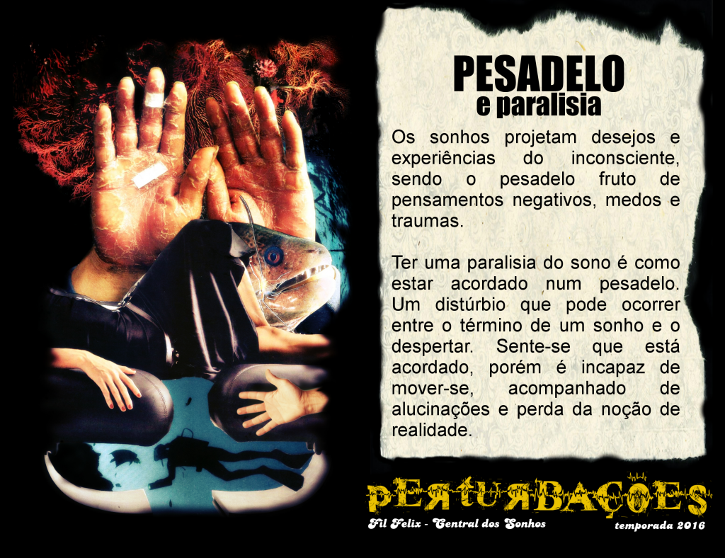 Cartão #1 - Pesadelo e Paralisia do Sono (Perturbações)