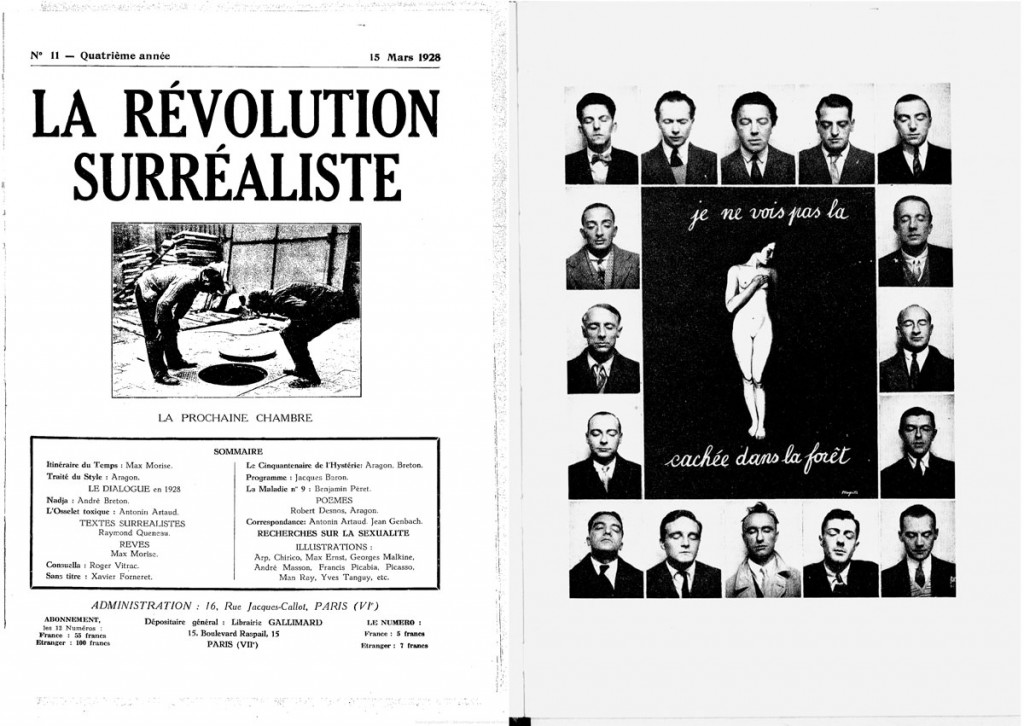 Capa de La Revolution Surrealiste