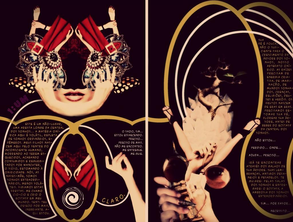 Central dos Sonhos - Tormentos Fanzine Página Dupla